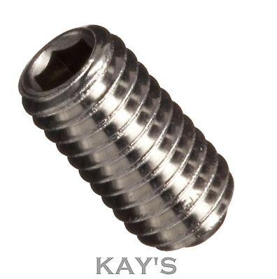 M6 / 6mm Stainless Steel Grub Screws, Cup Point, Hexagon Socket