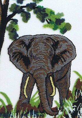 Webster Craft Punch Needle Embroidery Elephant Large A3 kit British Made