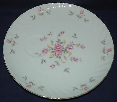 LEFTON CHINA SNACK PLATE ONLY MOSS ROSE PATTERN