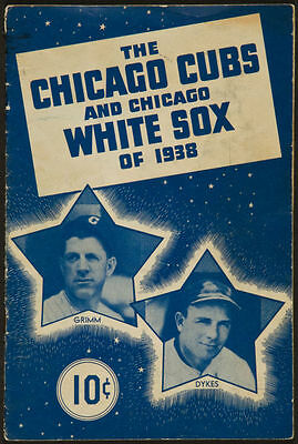 1938 Chicago Cubs and White Sox Multi Signed Booklet