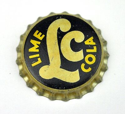 LC Lime Cola Kork Kronkorken USA 1946 Bottle Cap Cork Lined Caps Soda