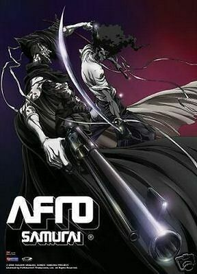 "Afro Samurai Vs Justice Fabric Wall Scroll 31""X43"""