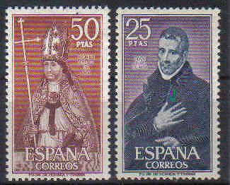 STAMPS  SPAIN  1970  SG 2019 - 20  ( MNH )    lot 14