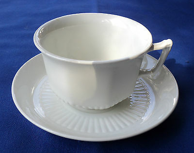 5 available ADAMS CHINA EMPRESS WHITE IRONSTONE CUP & SAUCER