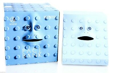 FaceBank Electronic Coin Eating Motorised Mouth Money Box Blue Face Bank NEW