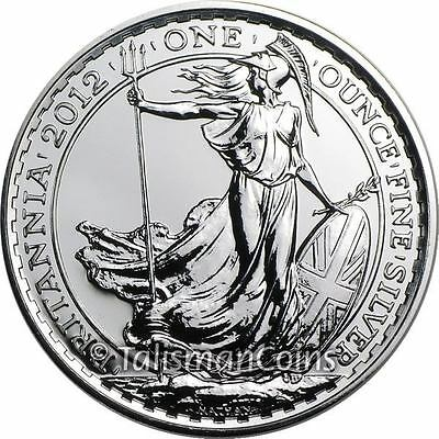 Great Britain 2012 Britannia Standing Windswept with Trident 2 Pounds Silver