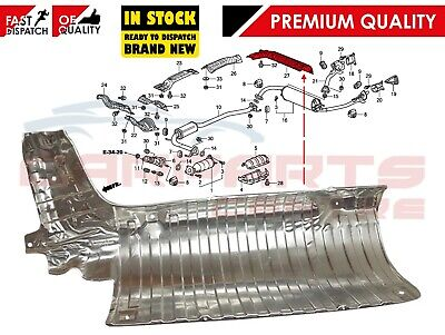 For Honda Civic 5Dr 3Dr Type R Fn2 08-11 Genuine Rear Exhaust Box Heat Shield