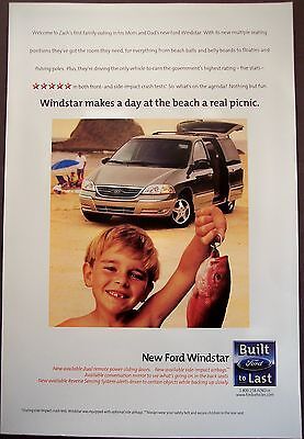 Ford Windstar family vehicle original 1999 Ad