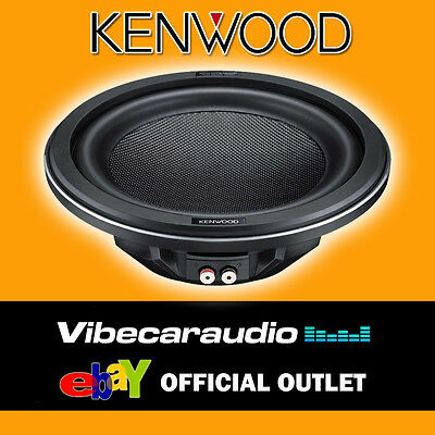 "Kenwood 1400 Watts 12"" Shallow Mount Carbon Fibre Car Subwoofer Sub Woofer Bass"