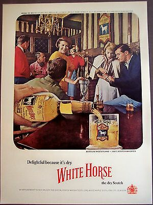 1963 White Horse Blended Scotch Whisky Browne-Vintners vintage ad
