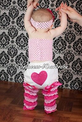 Baby Girl Hot Light Pinks Lace Leg Warmer Stocking Accessory For Pettiskirt 2-6Y