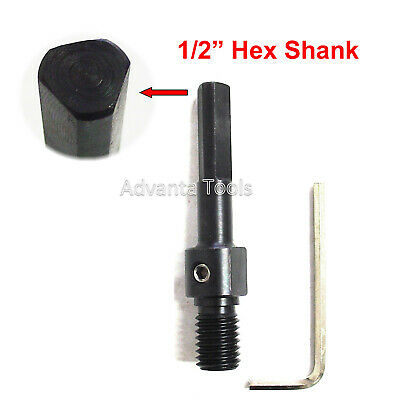 "Core Bit Adapter: Convert 5/8""-11 Arbor to 1/2"" Hex Shank for electric Drill"