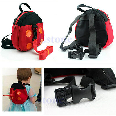 Backpack Baby Kid Anti-Lost Toddler Walking Safety Harness Strap Rein Ladybird