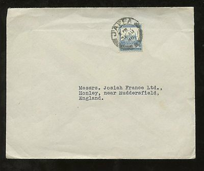 PALESTINE 1945 SOLO FRANKING 15p COVER to YORKSHIRE GB...JAFFA