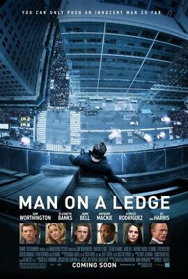 MAN ON A LEDGE MOVIE POSTER 2 Sided ORIGINAL 27x40 ELIZABETH BANKS