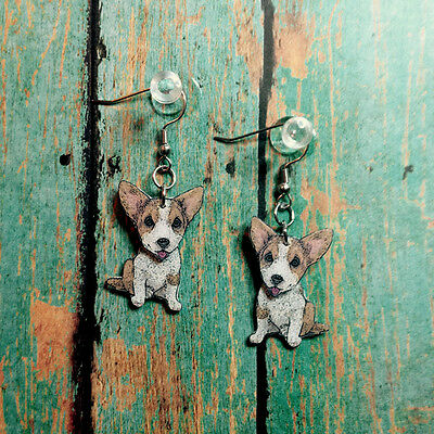 Welsh Corgi 3D Earrings Handcrafted Plastic Made in USA