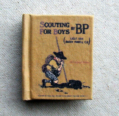 Dollshouse Miniature Book - Scouting For Boys