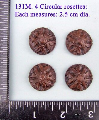 "131M ""4 Rosettes"" clock case / furniture DIY"