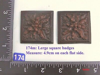 "174M ""2 Large Square badges"" clock case / furniture DIY"