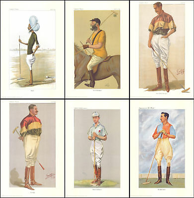 Polo  -  Beautiful Set Of 6 Polo Players Of Vanity Fair Prints       ( Repro's )