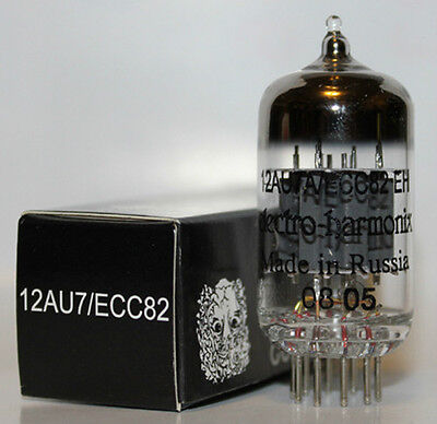 Electro Harmonix 12AU7 pre-amp tubes, New, Matched Sections