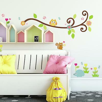 New SCROLL TREE BRANCH WALL STICKERS Branches & Leaves Decals Baby Nursery Decor