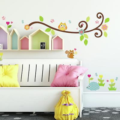 SCROLL TREE BRANCH WALL DECALS New Branches & Leaves Decals Baby Nursery Decor