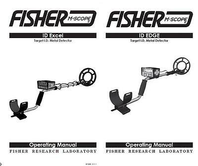 Fisher ID EDGE / ID EXCEL Metal Detector Replacement Operators Users Manual