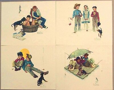 Vintage 1970's Norman Rockwell Me and My Pal Embossed Print Portfolio MINT