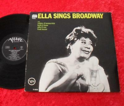 Ella Fitzgerald LP Ella sings Broadway TOP!!