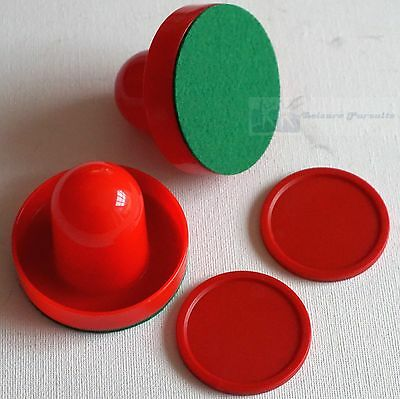 Air Hockey Table Arcade Quality 2 x 50mm Red Pucks and 2 x 65mm Red Pushers