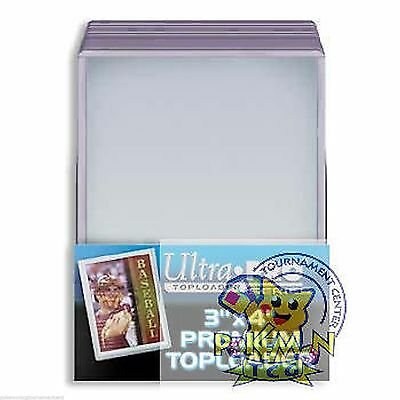 4 packs (100) 3x4 premium toploaders Ultra Pro for standard thickness cards