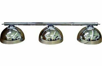 Pool Tables Lighting Canopy - Brass Rail Bar with 3 Bowel Shades- Green,Blue,