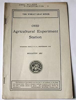 Scarce! The Wheat Leaf Miner by J. S. Houser 1912 Ohio Agricultural Entomology