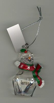 Ganz Clear Glass Resin Scarf Ornament Personalized Ian New With Tags