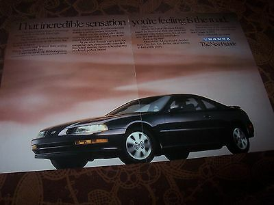 HONDA Prelude 1992 Publicité Magazine / Original  Advertising AD //