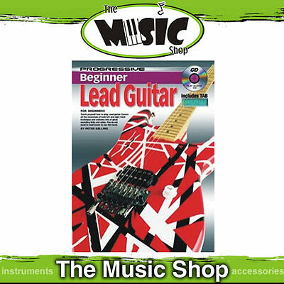 Progressive Beginner Lead Guitar Music Tuition Book with CD - New