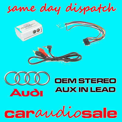 Audi A2 A3 A4  Tt Aux In Lead Auxiliary Input Adapter Lead Ctvadx002