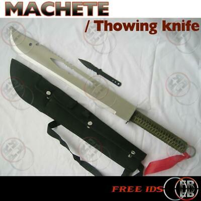 Machete Full Tang Survival Hunting Knife Yuezuo Long