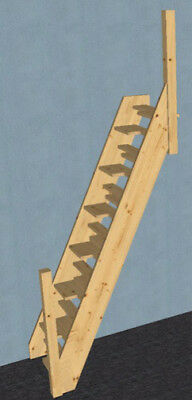 Pine Space Saver Stair & Posts (To your sizes)