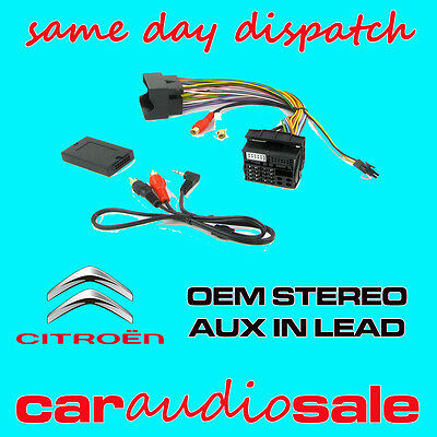 Citroen C2 C3 C4 C5Mk2 C8 Aux In Lead Auxiliary Input Adapter Lead Ctvpgx011