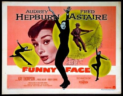 Funny Face Audrey Hepburn 1957 Style B Half-Sheet