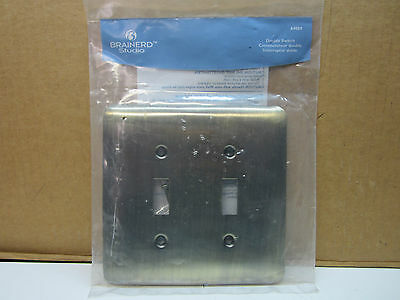 Brainerd Antique Brass Double 2 Toggle Switch Wallplate Wall Plate 64089