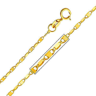 """20/"""" Inches for women 14K Solid Real Yellow Gold 1mm Snail Link Chain Necklace"""