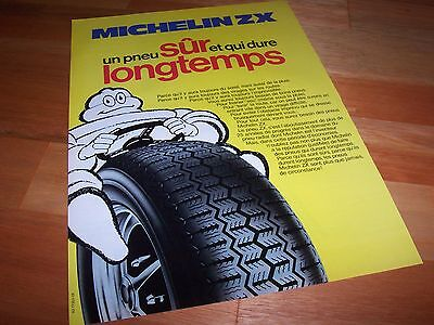Publicité magazine / Original Advertising MICHELIN ZX 1977 //