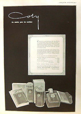 "COTY PARFUMS - ARGENTINE VINTAGE MAGAZINE AD. ""Plus Ultra"""