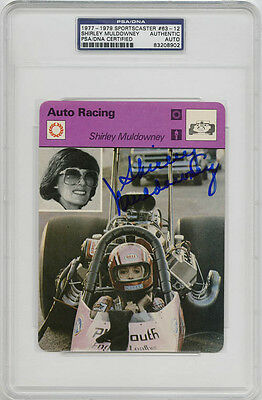 Shirley Muldowney SIGNED Sportscaster Card RARE PSA/DNA AUTOGRAPHED