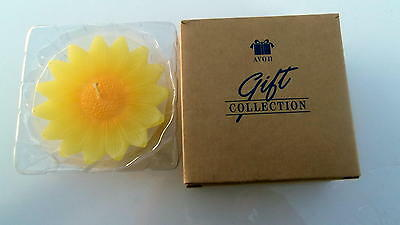Avon Floating Floral Candle Yellow