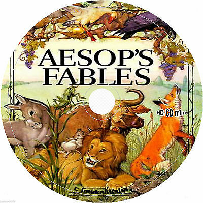 Aesop's Fables cd cd Book Kid Story Classic Children Lot Illustrated Cartoon