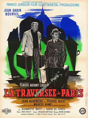 Reproduction affiche TRAVERSEE DE PARIS (la) - AUTANT-LARA - Jean GABIN